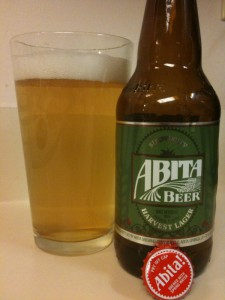 Abita Beer's Strawberry Havest Lager